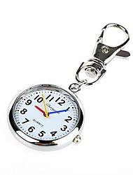 unisex liga analógico de quartzo relógio de bolso chaveiro