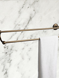 Antique Brass 21 Inch  Double Towel Bar, Bathroom Accessory