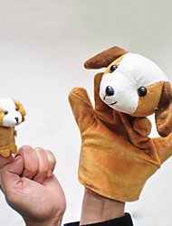 Lovely Puppy Plush Dog Hand Puppets  Kids Glove  Play Toy