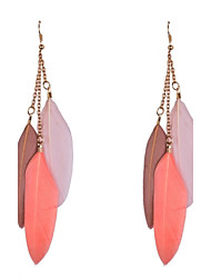 Ethic Feather Drop Earrings