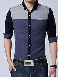 Men's Casual Long Sleeves Cotton Shirt