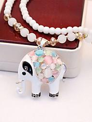 Russana Women's Opal Long Necklace