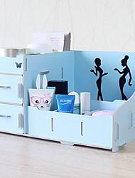 Rangement pour Maquillage Boîte de maquillage / Rangement pour Maquillage Couleur Pleine 32.0 x 22.0 x 17.0 Bleu