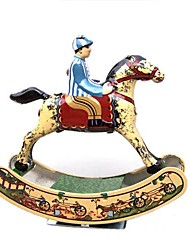 Tin Rocking Horse Wind-Up Toys for Collection