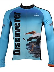 ILPALADINO Cycling Jersey Men's Long Sleeve Bike Breathable Quick Dry Ultraviolet Resistant Jersey Tops 100% PolyesterAnimal Nature &