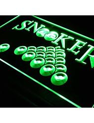 S083 salle de billard de billard signe bar bière néon de lumière