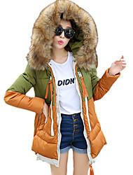 DM женщин Кореи балахон сгущать длинным рукавом оболочка элегантный шерсть длинная шерсть