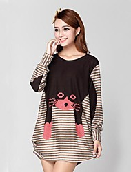 Women's Cashmere , Sexy/Casual/Print/Beach/Party Long Sleeve