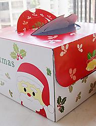 cuboides de santa claus torta cajas del favor portátiles