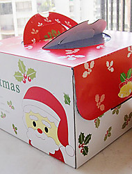 Portable Cuboid Santa Claus Cake Favor Boxes