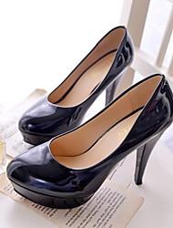 bombas plataforma sapatos de verniz salto stiletto das mulheres sapatos (mais cores)
