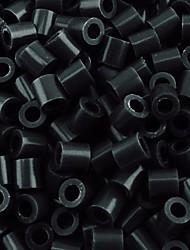 Approx 500PCS/Bag 5MM Black Perler Beads Fuse Beads Hama Beads DIY Jigsaw EVA Material Safty for Kids