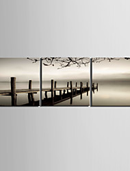 Stretched Canvas Art Landscape Bridge Cross the Sea Set of 3