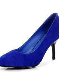 zapatos de las mujeres del estilete de cuero de vaca talón dedo del pie puntiagudo zapatos de las bombas