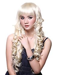sweet girl estilo olas suaves sintético de color beige de halloween fiesta de la peluca de fibra de las mujeres