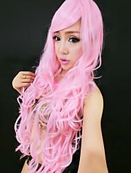 Sweet Mermaid Pink Long Curly Hair 85cm Women's Halloween Party Wig