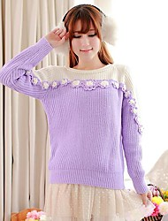 ICED™ Women's Sweet Nail Bead Rose Pullover Sweater