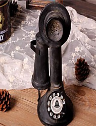 "5.9""H Vintage Style Telephone Type Polyresin Collectible"