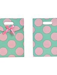 Lureme Fashion Dot PatternBowknot Gift Bag(1Pc)
