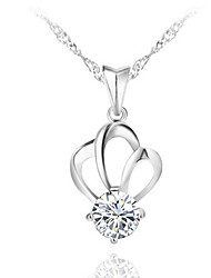 MISS U Women's All Matching Crown Shape Necklace