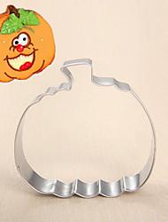 Halloween thème citrouille coupe forme de cookie, l 7.5cm xl 7,3 cm xh 2,5 cm, en acier inoxydable