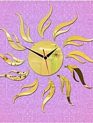 Reloj 3d bricolaje estilo moderno nuevo espejo sol acrílico pared