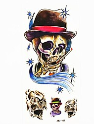 Waterproof Skull Bone Temporary Tattoo Sticker Tattoos Sample Mold for Body Art(18.5cm*8.5cm)