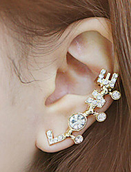 miss u toutes lettres correspondant patern boucles d'oreilles des femmes