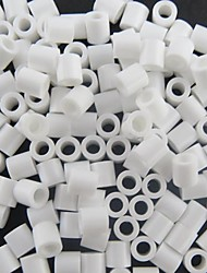 Approx 500PCS/Bag 5MM White Perler Beads Fuse Beads Hama Beads DIY Jigsaw EVA Material Safty for Kids