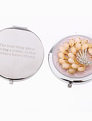 Personalized Peacock Cosmetic Mirror Valentine's Day Gifts Friends Gifts