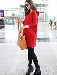 Maternity's Fashion Joker Leisure Long Sleeve Maternity Dress