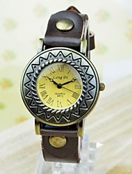 Women's Fashion Roman Number Sun Cowhide Bracelet Watch Cool Watches Unique Watches