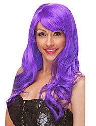 Mysterious Queen Purple Long Curly 50cm Women's Halloween Party Wig