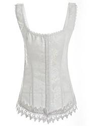 dentelle jacquard devant Busk fermeture corset shapewear des femmes avec désossage