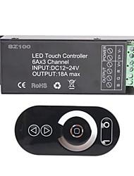 6-3-canal inteligente rgb rf sem fio levou controlador de painel de toque para rgb conduziu a lâmpada de tira (DC 12 ~ 24V)