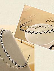 fascia dei capelli diamate forma d'onda della perla (colore casuale)