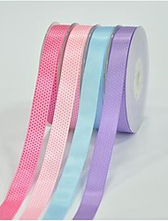 5/8 Inch Polyester Color Buty Belt Printing Ink Dot Seven Oblique Dot Ribbon- 25 Yards Per Roll (More Colors)
