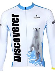 PaladinSport Men's Spring and Summer and Autumn Style 100% Polyester Long Sleeved Cycling Jersey(Polar Bear)