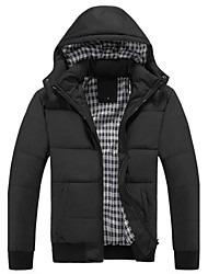 Men's Hoodie Coller Basic Long Sleeve Cotton-Padded Jacket