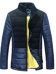 bangwei мужской тонкий точка совместной сгущать хлопка пальто