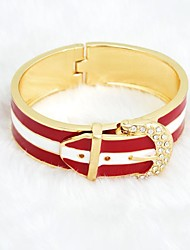 Red with White Fashion New Arrival Bangle,London Women Imitation Mental Gold Plated Bangle Gold Bracelet