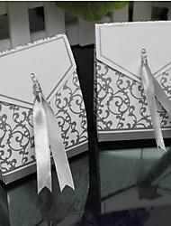 lureme mode vouwen koper card bonbondoos (zilver, goud) (100 stuks)