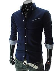 à manches longues de style coréen chemise slim fit de urun hommes
