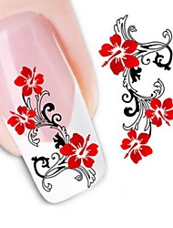 1 Engomada del arte del clavo Etiqueta de transferencia de agua Flor Boda maquillaje cosmético Dise?o de manicura