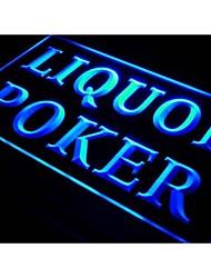 S028 liqueur poker signe bière bar pub néon de lumière