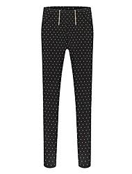 Women's Printed Dual Zipper Elastic Feet Pants