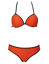 Women's  Trimmed Light  Triangle Bikini Swimsuit