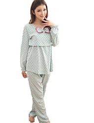 ponto onda da moda confortável conjunto roupa pijamas de amamentação da maternidade