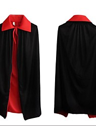 The Vampire Black And Red Two Layers 90cm Cloak for Halloween(1 Pc)