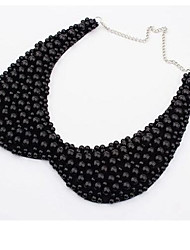 Women's Collar Necklace Pearl Necklace Pearl Imitation Pearl Fashion White Black Jewelry Party Daily Casual 1pc
